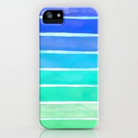 Ocean Blue iPhone & iPod Case by Sara Eshak