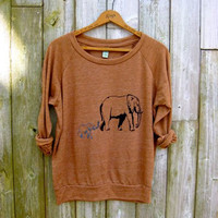 me and mama Elephant Shirt, Mother's Day Gift, Slouchy Pullover, Yoga Top, S,M,L,XL