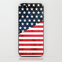 rustic flag iPhone & iPod Skin by daniellebourland