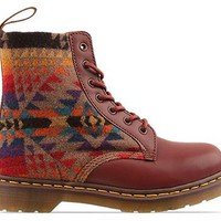 Dr. Martens Pendleton Mens in Cherry Red Tan at Solestruck.com