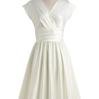 Love You Ivory Day Dress | Mod Retro Vintage Dresses | ModCloth.com