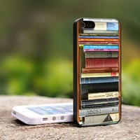 Book Shelf - For iPhone 5 Black Case Cover