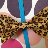 Leopard Hair Bow by PocketTeesandThings on Etsy