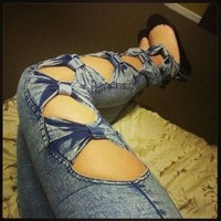 bowknot sexy Jeans