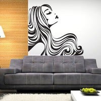 Dreaming Girl - Moon Wall Stickers