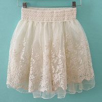 sweet retro princess gauze lace skirt tutu