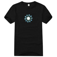 Tony Stark Luminous Iron Man 3 Reactor T-shirt from key glamour