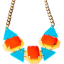 Orange Drops Statement Necklace,Plexiglass Jewelry,Geometric Necklace,Lasercut Acrylic
