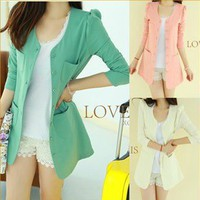 Candy Colored Suit Jacket for Summer