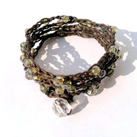 boho bohemian 5x checks beaded bracelet by theflowerdesign on Etsy