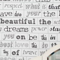 Mix N Match Poetry Wall Decal