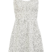 Silver animal jaquard dress