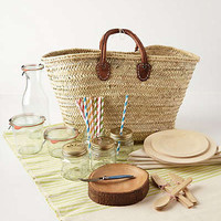 Anthropologie - Hillside Picnic Basket