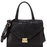 FOLEY & CORINNA Black Laser Satchel