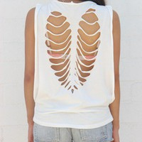 Muscle Cut Out - White