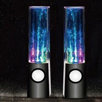 eBADA(TM) 2013 New USB Powered Colorful LED Fountain Dancing Water Mini Music Speakers for Iphone 4s 5 ipod itouch Samsung S2 S3 Note kindle