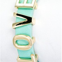 The Mint Love Bracelet