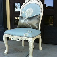 Shabby Chic Accent Chair ERIN by lemonAIDER on Etsy