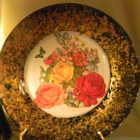 Decorative Decoupage Plate Flowers by SwartzbergBazaar on Etsy