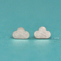 Tiny Cloud Earrings by mxmjewelry on Etsy
