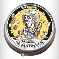 Mad Hatter Meds Pill Box