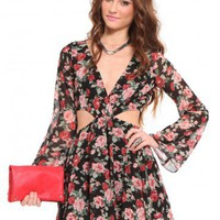 Floral Cutout Dress | GYPSY WARRIOR