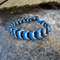 Hemp Bracelet For Men Macrame Fishbone Knot Jewelry