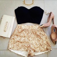 SEQUIN MOSAIC SHORTS