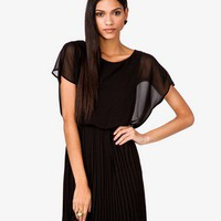 Pleated Blouson Dress