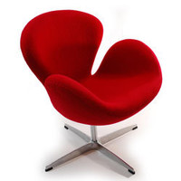 Swan Wool Chair | Overstock.com