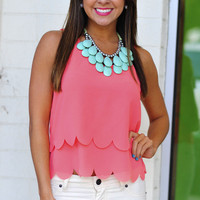 Half Shell Scallop Tank Top: Coral | Hope&#x27;s