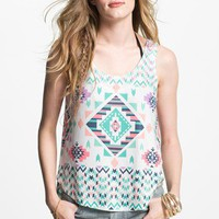 Elodie Tribal Print Tank (Juniors) | Nordstrom