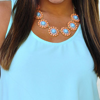 Pretty Little Flowers Necklace: Peach | Hope&#x27;s