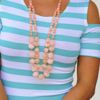 Drops of Honey Necklace: Pale Peach | Hope's