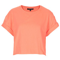 Tall Fluro Roll Back Crop Tee - Hotshop - Clothing - Topshop USA