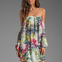 T-Bags LosAngeles Cut Out Sleeve Dress in Floral from REVOLVEclothing.com