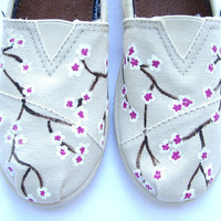The Blossom  Cherry Blossom Custom TOMS by FruitfulFeet on Etsy