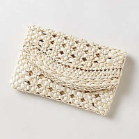 Anthropologie - Havana Straw Clutch