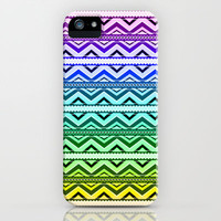 Rainbow Aztec iPhone & iPod Case by Ornaart