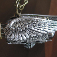 The Steampunk SciFi Necklace The Winged Airship by steamheat