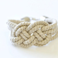 Sailor Knot Bracelet Natural by DobleEle on Etsy
