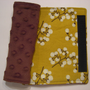 Yellow Floral and Minky Reversible Car Seat Strap Covers
