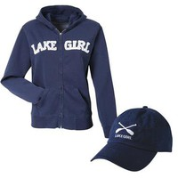 Lake Girl Zip Hoodie & Hat | Apparel | SkyMall