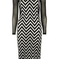 Black/white fitted dress - View All  - Dresses