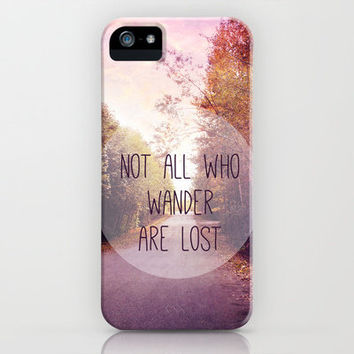 not all who wander are lost iPhone & iPod Case by Sylvia Cook Photography