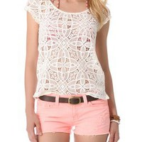 BB Dakota Omni Crochet Top | SHOPBOP