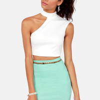 Half Time Show Ivory Crop Top