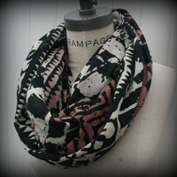 Tribal Print Infinity  Scarf Multicolor Infinity Scarf FREE Shipping Most Popular Items Spring Scarf - By PIYOYO