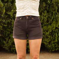High Waisted Brown Corduroy Levi Shorts