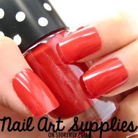 nailartsupplies | Classic Red - Bright Red Vivid Colored Nail Polish Lacquer 14ml | Online Store Powered by Storenvy